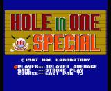 Hole in One Special MSX Play Select
