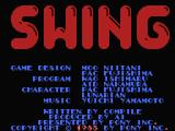 Swing MSX Title and credits screen