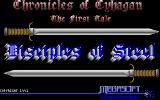 Disciples of Steel Atari ST Title screen