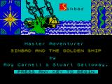 Sinbad & the Golden Ship ZX Spectrum Title screen