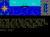 Sinbad & the Golden Ship ZX Spectrum The precarious starting position