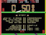 C-So! MSX Title and credits screen