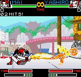 "King of Fighters R-2 Neo Geo Pocket Color Taking a short time in the Sparring ""Practice"" Mode, Mai improves her SDM Sui Cho no Mai in Yashiro."