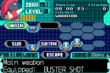 Mega Man Zero 4 Game Boy Advance The menu