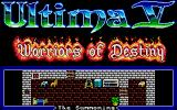 Ultima V: Warriors of Destiny Atari ST Title screen