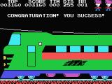 Stop the Express MSX Congratulations you reached the front of the train with the key to switch of the engine.