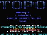 Drazen Petrovic Basket MSX Title and credits screen
