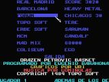 Drazen Petrovic Basket MSX Team Select screen