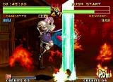 Samurai Shodown IV: Amakusa's Revenge Neo Geo With the great range of her move Power Gradation, Charlotte was able to hit Genjuro during the jump.