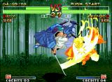 Samurai Shodown IV: Amakusa's Revenge Neo Geo In his Hiken TsubameGaeshi, Ukyo does a sword fire burst which knocks down the adversary if hit.