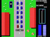 Road Fighter MSX The starting grid.