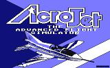 Acrojet Amstrad CPC Loading screen