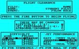 Acrojet Amstrad CPC Some parameters that can be set