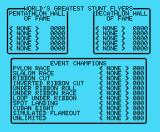Acrojet MSX The high score table and event overview