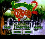 Lemmings 2: The Tribes SNES Title screen / Main menu.