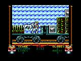 Shadow Dancer Amstrad CPC Standing on a cargo train