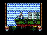 Shadow Dancer Amstrad CPC Standing on a cargo boat