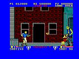 E-SWAT: Cyber Police Amstrad CPC Boss throws a boomerang at you