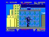 E-SWAT: Cyber Police Amstrad CPC Walk around in the robo-suit