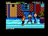 Final Fight Amstrad CPC Destroy the dustbin to obtain weapons, health, etc.