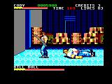 Final Fight Amstrad CPC Bill Bull is down