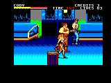 Final Fight Amstrad CPC On the train