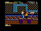 Final Fight Amstrad CPC On the railway tracks