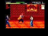 Final Fight Amstrad CPC Must be entertaining for the customers watching a fight outside a restaurant