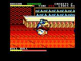 Final Fight Amstrad CPC Haggar fighting in a bar
