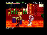 Final Fight Amstrad CPC Fighting in front of the boys from the 'hood