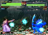 "Samurai Shodown IV: Amakusa's Revenge Neo Geo Tam Tam feeling triple damage made by 3 spinning water ""discs"" made by Sogetsu's GetsurinHa/chi."