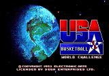 Team USA Basketball Genesis Title screen
