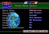 Team USA Basketball Genesis Main menu - exhibition mode has more options than tournament