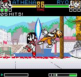 King of Fighters R-2 Neo Geo Pocket Color During the battle against Ryo, Athena connects her move Psycho Sword in him: it's a stroke of luck!