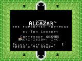 Alcazar: The Forgotten Fortress ColecoVision Title screen.
