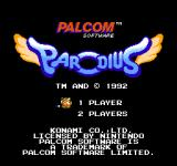 Parodius NES Parodius title screen