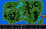 Crystals of Arborea Atari ST Map of the world