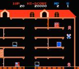 Mappy NES Recover the stolen electronic goods