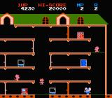 Mappy NES Use the trampoline to jump from platform to platform