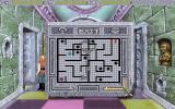 Quest for Glory: Shadows of Darkness DOS Inside Dr. Cranium's laboratory you'll have to solve several puzzles. This one requires you to guide the baby antwerp through the maze to get the key