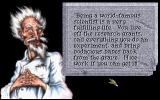 Quest for Glory: Shadows of Darkness DOS Discussing the benefits of science with Dr. Cranium, one of the many NPC's in this game