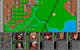 Dragons of Flame Atari ST Map of the world