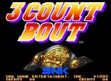 3 Count Bout Neo Geo Title screen.