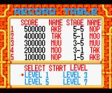 Gorby's Pipeline MSX High Score and Play Select screen.