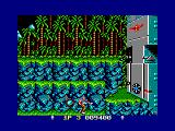 Contra Amstrad CPC Destroy the base to proceed to the next level