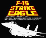 F-15 Strike Eagle MSX Title screen (MSX2).