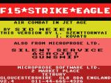 F-15 Strike Eagle MSX Title screen (MSX1)