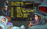 The Geekwad: Games of the Galaxy DOS Help screen that tells you your options.