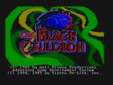 The Black Cauldron PC Booter Title screen (CGA with composite monitor)