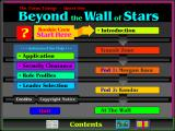 Beyond the Wall of Stars Windows 3.x Main Menu.